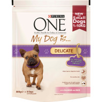 Purina ONE My Dog Is...Delicate Salmon & Rice Small Adult Dog Food 800g