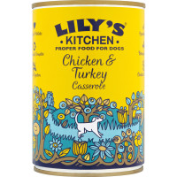 Lilys Kitchen Homestyle Chicken & Turkey Casserole Dog Food 400g x 6