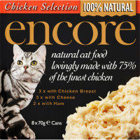 Encore Chicken Selection Can Cat Food 70g x 8
