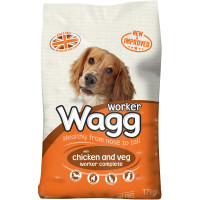 Wagg Complete Worker Chicken Dog Food 17kg