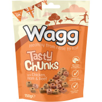 Wagg Tasty Chunks with Chicken Ham & Beef Dog Biscuits 150g