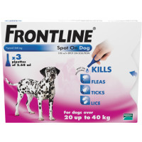 Frontline Flea Spot On Dog Large Dog 20-40kg x 3
