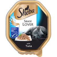 Sheba Tray Sauce Lover With Tuna Adult Cat Food 85g x 18