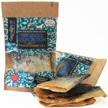 Green & Wilds Whole Salmon Skin Dog Treat