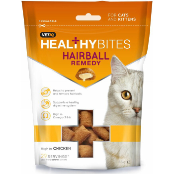 Mark & Chappell VetIQ Healthy Bites Hairball Remedy Cat Treats