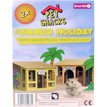 Smartkitz Cardboard Pet Shacks Summer Holiday