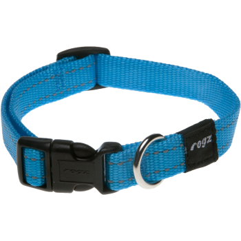 Rogz Utility Reflective Blue Dog Collar