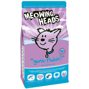 Meowing Heads Gone Fishin Adult Cat Food
