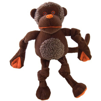 "Hugglehounds Knottie ""with Tuffut Technology"" Chimp Dog Toy"