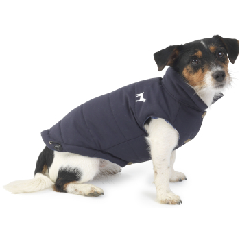 House Of Paws Fleece Lined Gilet Navy Dog Coat