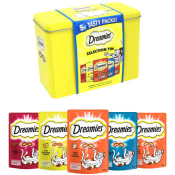 Dreamies Christmas Gift Tin Cat Treats