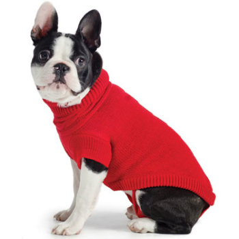 Ancol Muddy Paws Red Cable Knitted Dog Jumper