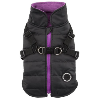 Puppia Mountaineer Dog Harness Coat Black