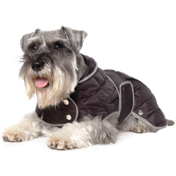 Muddy Paws Diamond Quilted Dog Rain Coat