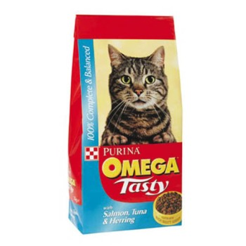 Omega Tasty Salmon, Tuna & Herring Cat Food 10kg