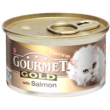 Gourmet Gold Terrine with Salmon Cat Food 12 x 85g