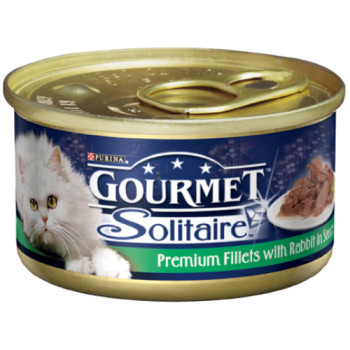 Gourmet Solitaire Rabbit Fillets Cat Food