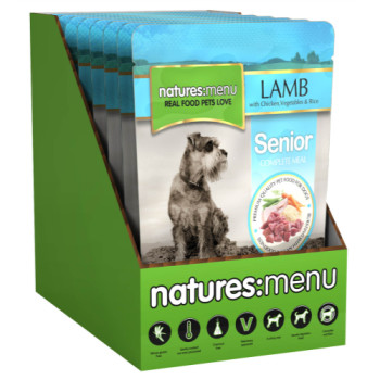 Natures Menu Lamb Vegetables & Rice Senior Dog Food Pouches