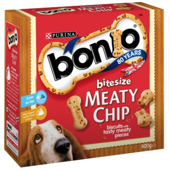 Bonio Bitesize Meaty Chip Dog Biscuits