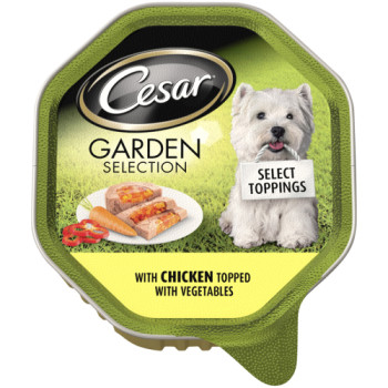 Cesar Tray Garden Selection Selection Chicken & Veg Adult Dog Food