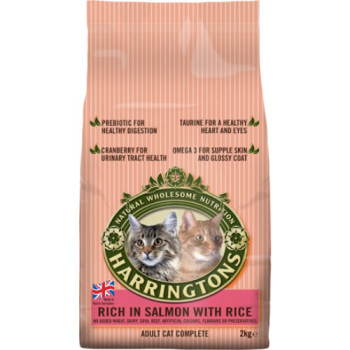 Harringtons Complete Salmon With Rice Cat Food