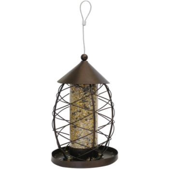 Rosewood Antique Lantern Seed Feeder