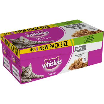 Whiskas Pouch Tasty Textures Mixed Selection Adult Cat Food