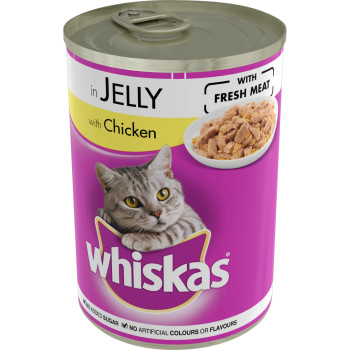 Whiskas Can Chicken in Jelly Adult Cat Food