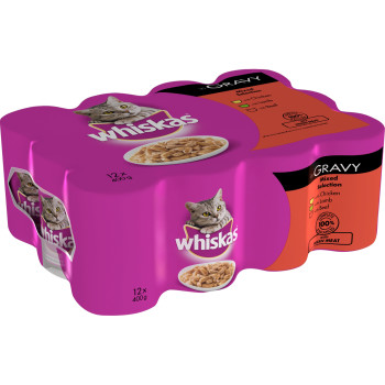 Whiskas Can Mixed Selection in Gravy Adult Cat Food