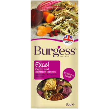 Burgess Excel Carrot & Beetroot Rabbit, Chinchilla & Guinea Pig Snack