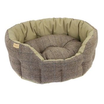 Earthbound Traditional Tweed & Waterproof Beige Dog Bed