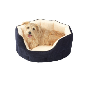 House Of Paws Memory Foam Navy Oval Dog Bed