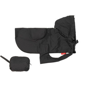 House Of Paws Black Dog Rain Coat