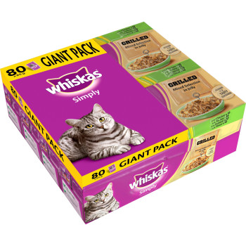 Whiskas Pouch Simply Grilled Meat & Fish Adult Cat Food