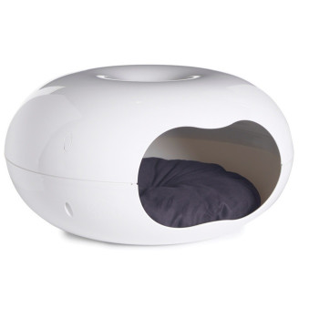 Donut White Cat Bed
