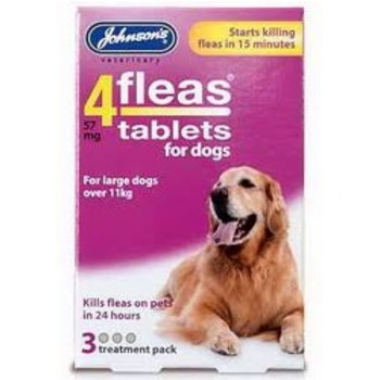 Johnsons 4 Fleas Tablets for Dogs