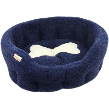 Earthbound Classic Bone Navy Dog Bed