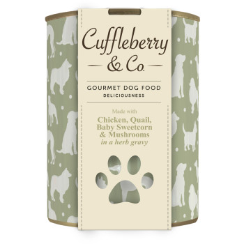 Cuffleberry & Co Chicken Quail Sweetcorn & Mushrooms Adult Dog Food