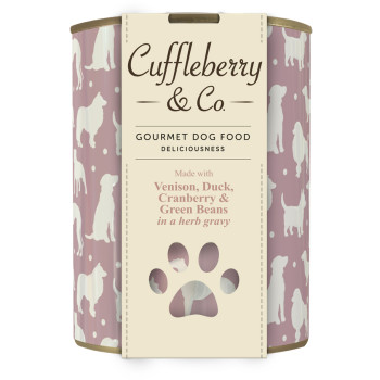 Cuffleberry & Co Venison Duck Cranberry & Green Beans Adult Dog Food