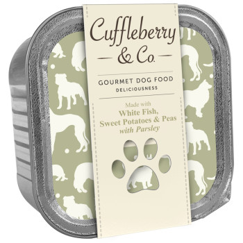 Cuffleberry & Co White Fish Potatoes Peas & Parsley Adult Dog Food