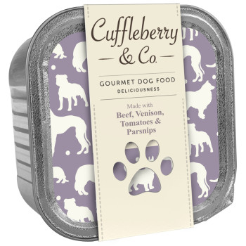 Cuffleberry & Co Beef Venison Tomatoes & Parsnips Adult Dog Food