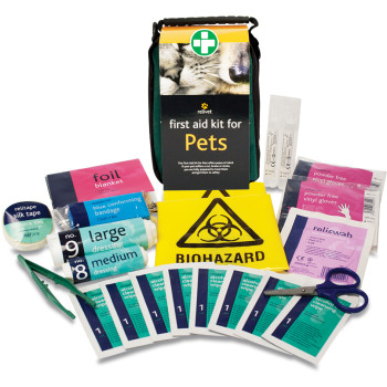 Relivet Dog & Cat First Aid Kit in Green Soft Bag