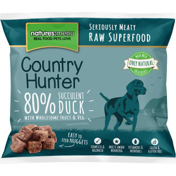 Natures Menu Country Hunter Complete Duck Nuggets Raw Frozen Dog Food