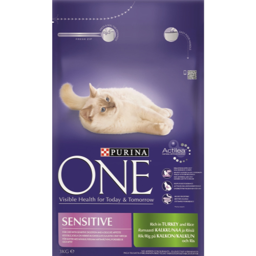 Purina ONE Turkey & Rice Sensitive Adult Cat Food