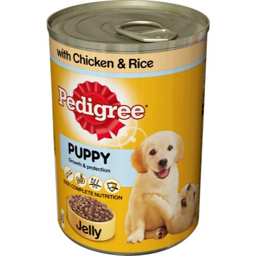 Pedigree Can Chicken & Rice in Jelly Puppy Food