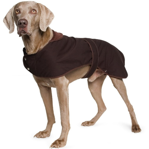 Muddy Paws Timberwolf Extreme Reflective Wax Brown Dog Coat