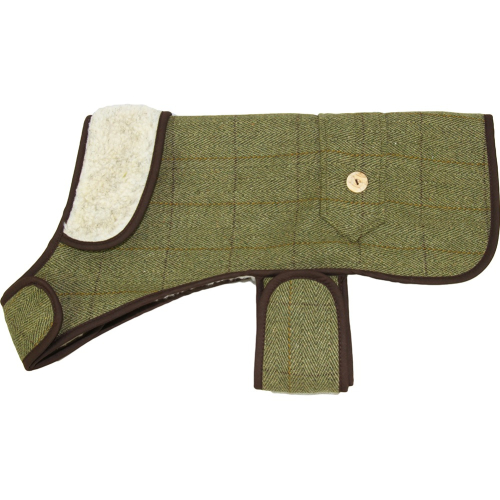 Earthbound Tweed Sherpa Dog Coat