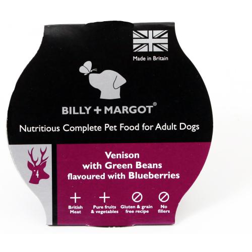 Billy and Margot Venison Single Serve Wet Dog Food 150g x 15