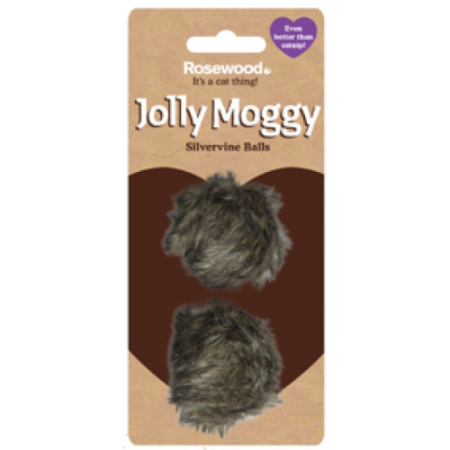 Rosewood Jolly Moggy Silvervine Balls Cat Toy