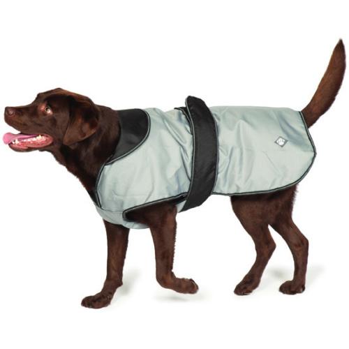 "Danish Design 2 in 1 Grey Dog Rain Coat 45cm/ 18"""